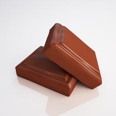 Chocolate pieces 3D Model