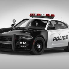 Dodge Charger Police (2015) 3D Model