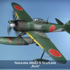 Nakajima A6M2-N - Rufe 3D Model