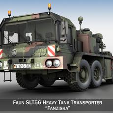 Faun STL-56 Tank Transporter 3D Model