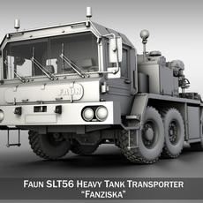Faun STL-56 Heavy Tank Transporter 3D Model