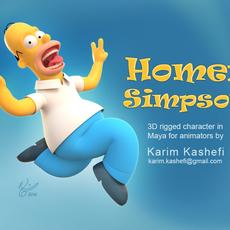 Homer Simpson for Maya 0.0.1