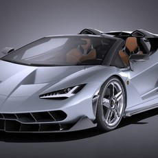 Lamborghini Centenario LP770-4 Roadster 2017 3D Model