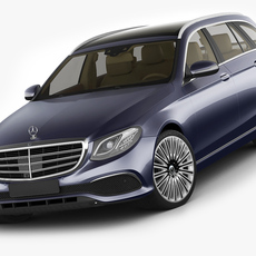 Mercedes E-class T-modell exclusive 2017 3D Model