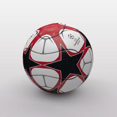 UEFA Champions League Ball 2009/2010 3D Model