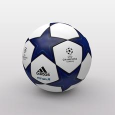 UEFA Champions League Ball 2010/2011 3D Model