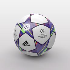 UEFA Champions League Ball 2011/2012 3D Model