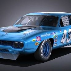 Plymouth Roadrunner NASCAR Richard Petty 1971 3D Model