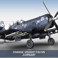 Change Vought F4U-5N Corsair 3D Model