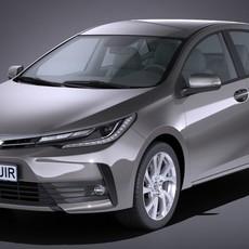 Toyota Corolla 2017 3D Model