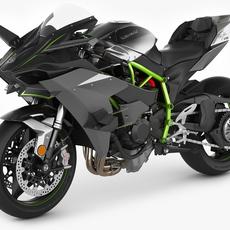 Kawasaki Ninja H2R 3D Model
