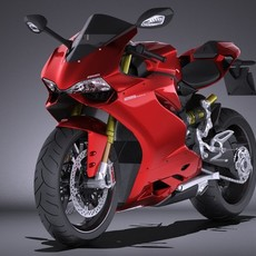 Ducati 1299 Panigale S 2016 VRAY 3D Model