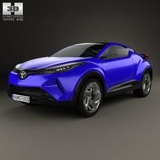 Toyota C-HR Concept 2014 3D Model