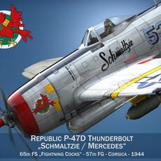Republic P-47D Thunderbolt - Schmaltzie 3D Model