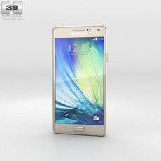 Samsung Galaxy A3 Champagne Gold 3D Model