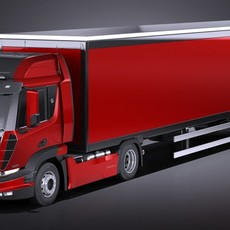 Generic Semi Truck with Trailer 2016 3D Model
