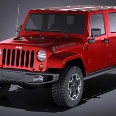 Jeep Wrangler Rubicon 2017 3D Model