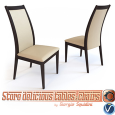 Chair CORTINA OLIVO & GODEASSI 3D Model