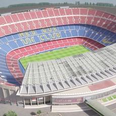 Camp Nou Barcelona Stadium 3D Model