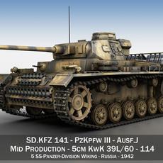 PzKpfw III - Panzerkampfwagen 3 - Ausf.J - 114 3D Model
