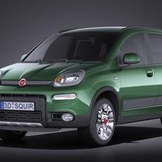 Fiat Panda 4x4 2013 VRAY 3D Model