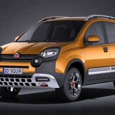 Fiat Panda Cross Country 2014 VRAY 3D Model
