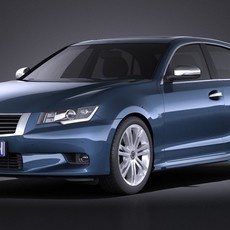 Generic Average Luxury Sedan 2015 3D Model