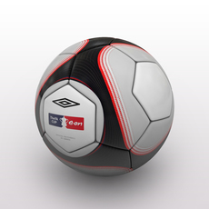 FA Cup Ball 2009 - Black 3D Model