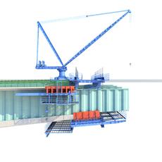Bridge construction hanging basket 3D Model