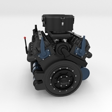 Maybach HL230 Engine Panzer Tiger Unit 3D Model