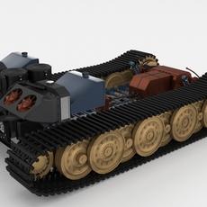 Panzer Tiger Drivetrain 3D Model