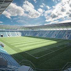 European Soccer Stadium 3D Model