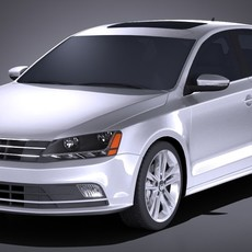 Volkswagen Jetta USA regular 2017 3D Model