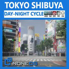Tokyo Shibuya 3D Model