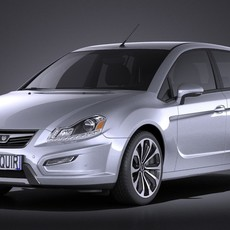 Generic Average Hatchback 2015 VRAY 3D Model