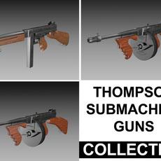 Thompson Submachine Gun - Collection 3D Model