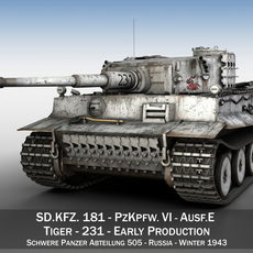 Panzer VI - Tiger - 231 - Early Production 3D Model