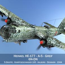 Heinkel He-177 A-5 - Greif - 6NDN 3D Model