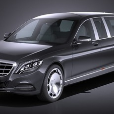 Mercedes S600 Pullman Maybach Guard 2018 3D Model