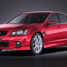Holden Commodore 2011 sedan VRAY 3D Model