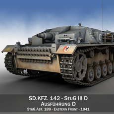 StuG III - Ausf.D - StuG.Abt. 189 3D Model