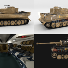 Fully built Panzer Tiger Tank Early (interior and engine) 3D Model