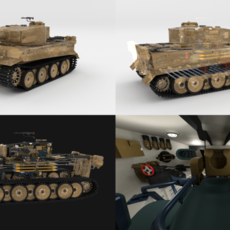 Panzer Tiger Tank Early with interior 3D Model