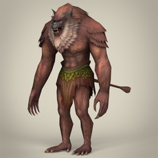 Fantasy Warrior Ape 3D Model