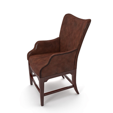 leather chair for the office 3D Model