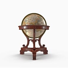 Antique Globe for office 3D Model