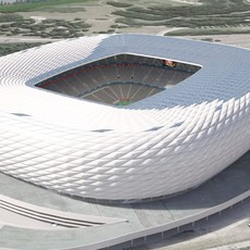 Allianz Arena at Day and Night 3D Model