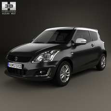 Suzuki Swift SZ-L hatchback 3-door 2014 3D Model