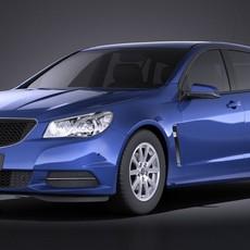 Holden VF Commodore Sportwagon 2014 VRAY 3D Model