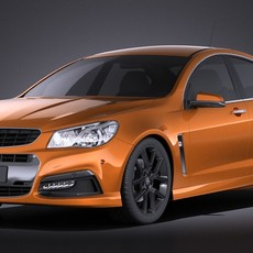 Holden VF Commodore SSV 2014 VRAY 3D Model